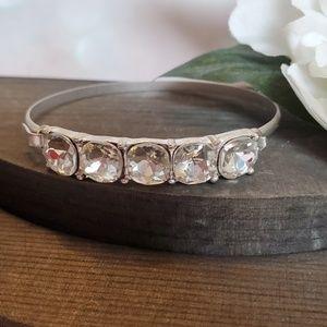 Clear Gem Stone Bracelet